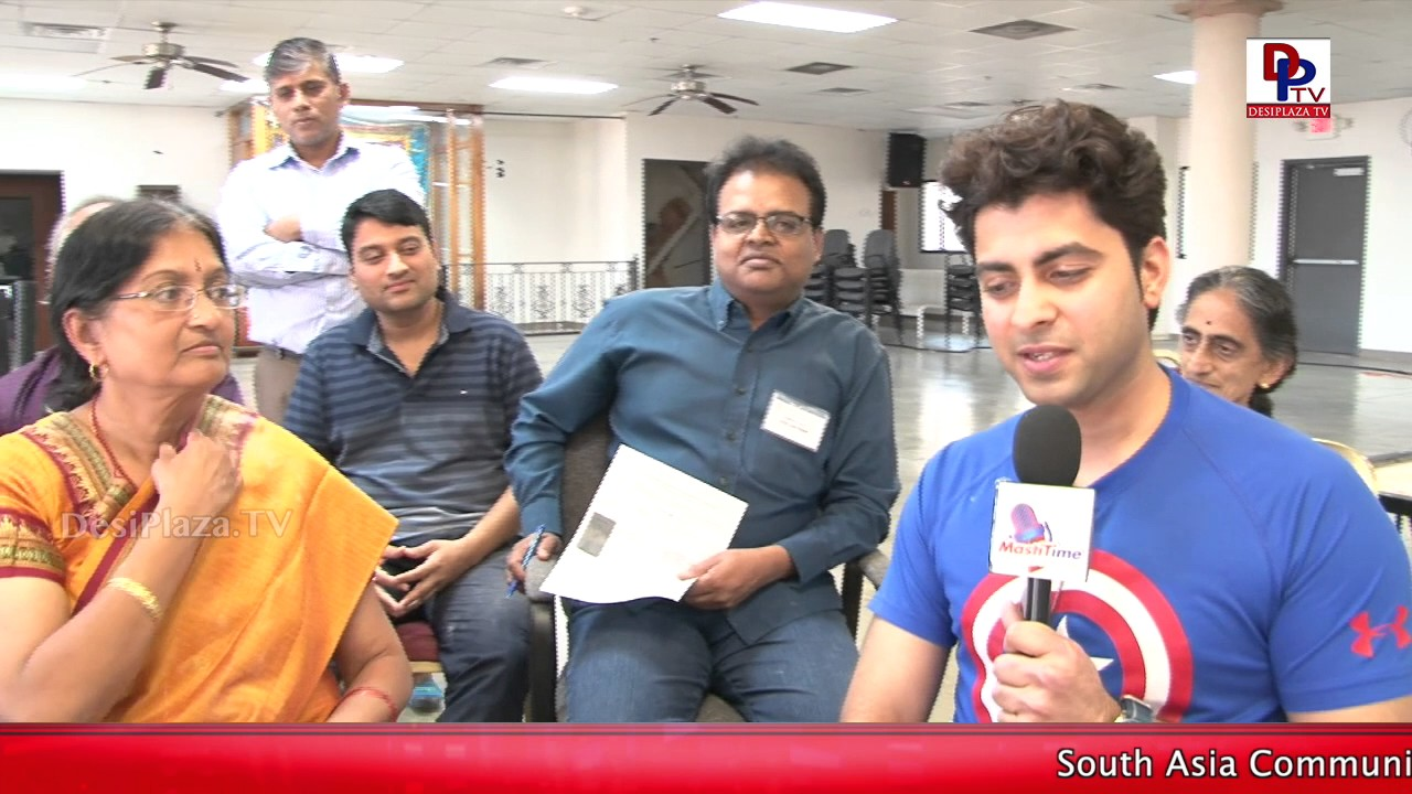 One of the competitors speaks to DesiplazaTVDFW Temple 3rd Carrom Tournament || DesiplazaTV