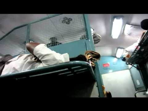 Second Class (unreserved seating) India train ride
