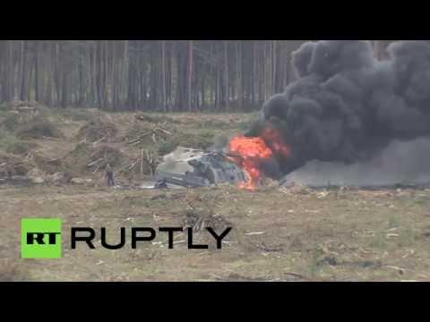 Вертолет Ми-28 потерпел крушение на авиашоу под Рязанью