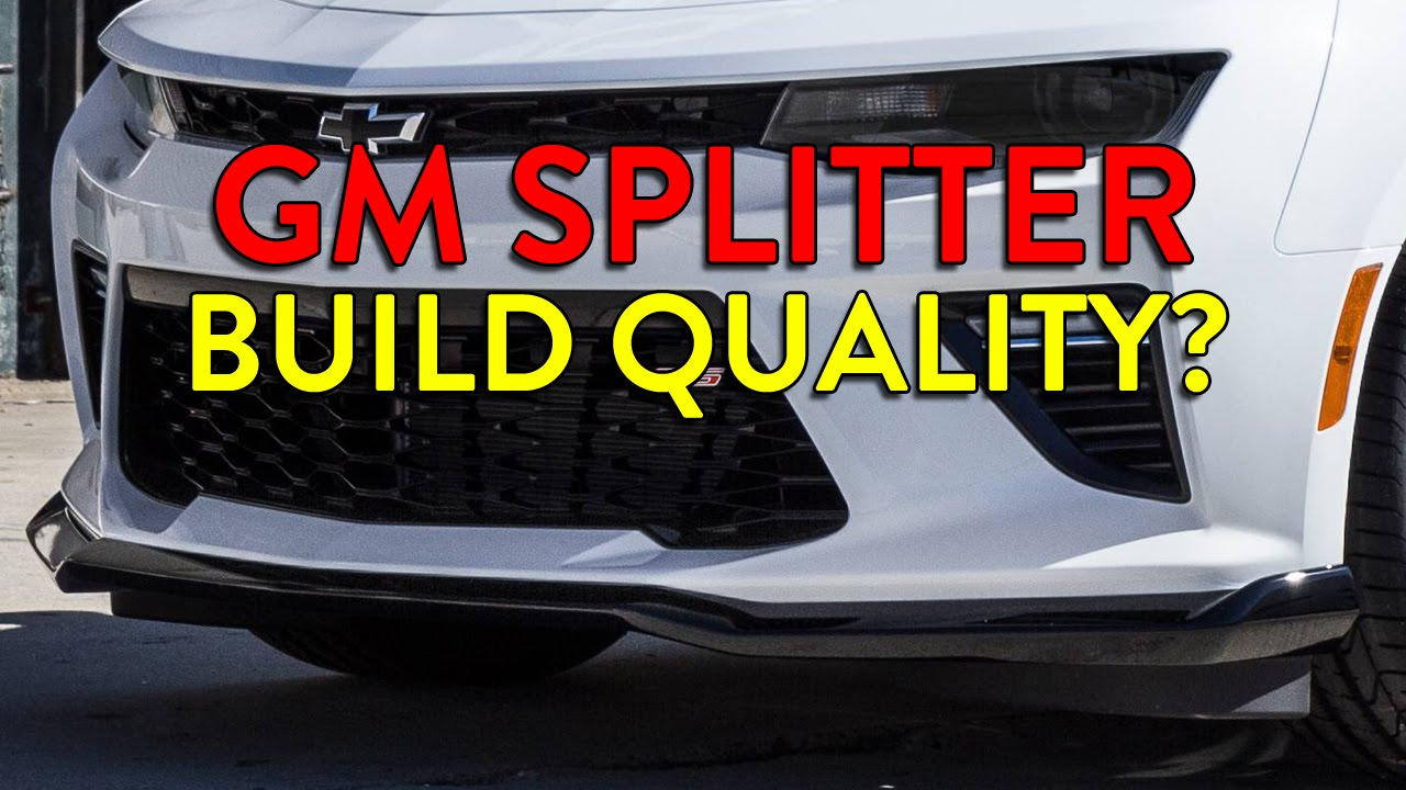2016/2017 Camaro GM Splitter/Front Fascia Extension Build Quality