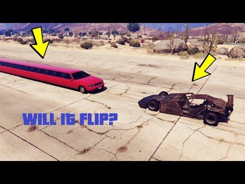 CAN A RAMP CAR FLIP LONGEST CAR IN GTA 5?