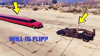 CAN A RAMP CAR FLIP LONGEST CAR IN GTA 5?