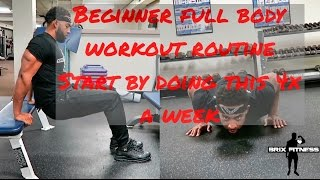 Beginner level workout  - Where to start in the gym - Full body Fat loss