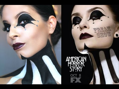 American Horror Story: FreakShow Halloween Makeup Tutorial