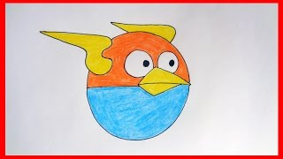 How to draw Lightning Birds from Angry Birds Space