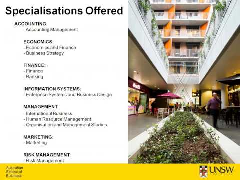 UNSW Australia School of Business Informational Webinar