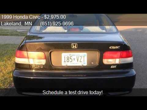 1999 Honda Civic Dx 2dr Coupe For Sale In Lakeland Mn 55043 Youtube
