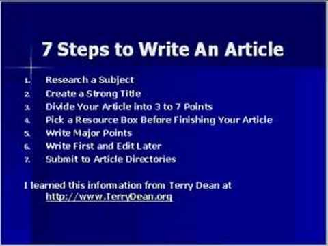 how to write articles Virginialynne has been a university english instructor for over 20 years she specializes in helping people write essays faster and easier author tag: you need to start your summary by telling the name of the article and the author here are three examples of how to do that (pay close attention to.