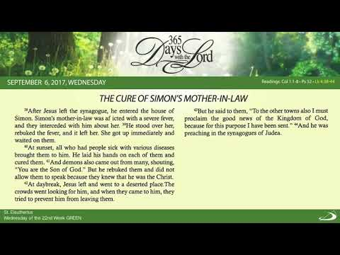 September 6, 2017 THE CURE OF SIMON'S MOTHER-IN-LAW