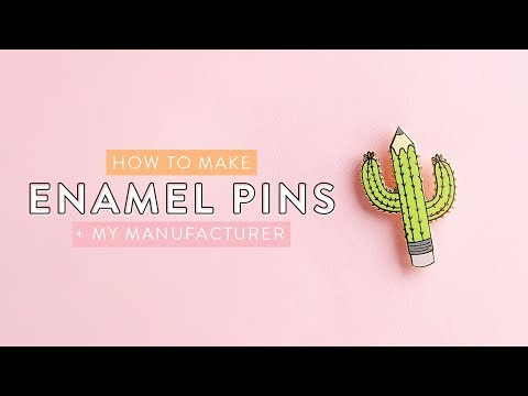 How to Make Enamel Pins From Your Artwork | Holly Pixels