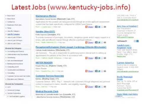 Kentucky Jobs | Jobs in Kentucky | Kentucky State Jobs