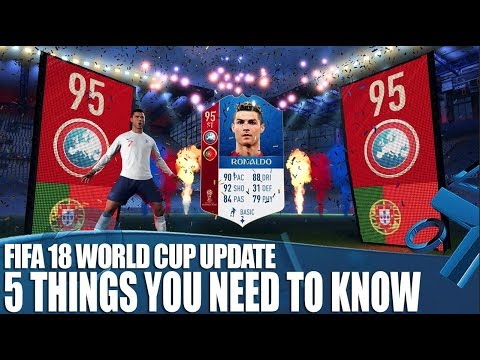 FIFA 18 New World Cup Russia Update Gameplay! 5 Things You Need To Know