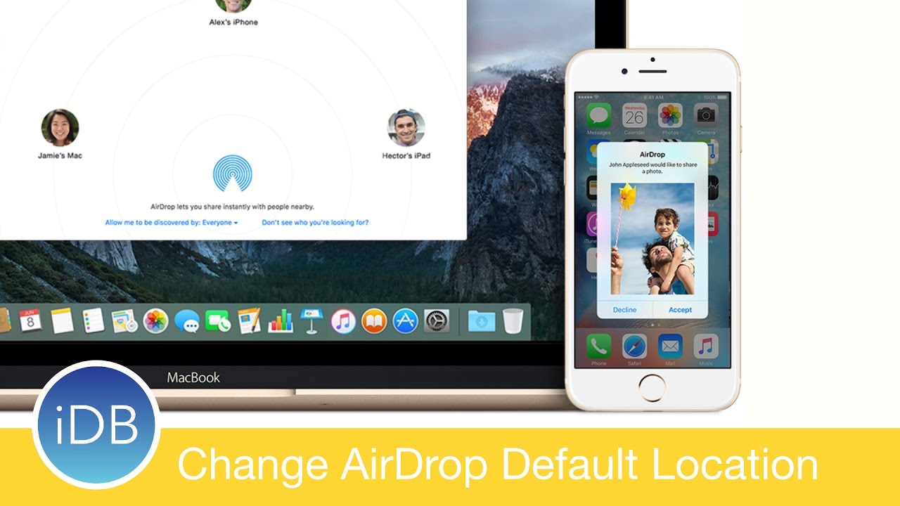 Howto: Change The Default Airdrop Destination On Mac