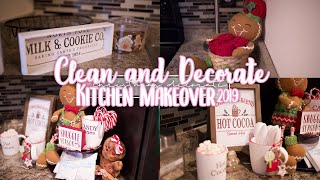 CHRISTMAS KITCHEN MAKEOVER   GINGERBREAD THEME + MINI HOT COCOA BAR   CHRISTMAS CLEAN AND DECORATE