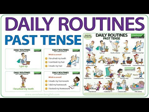 daily-routines---past-tense-in-english