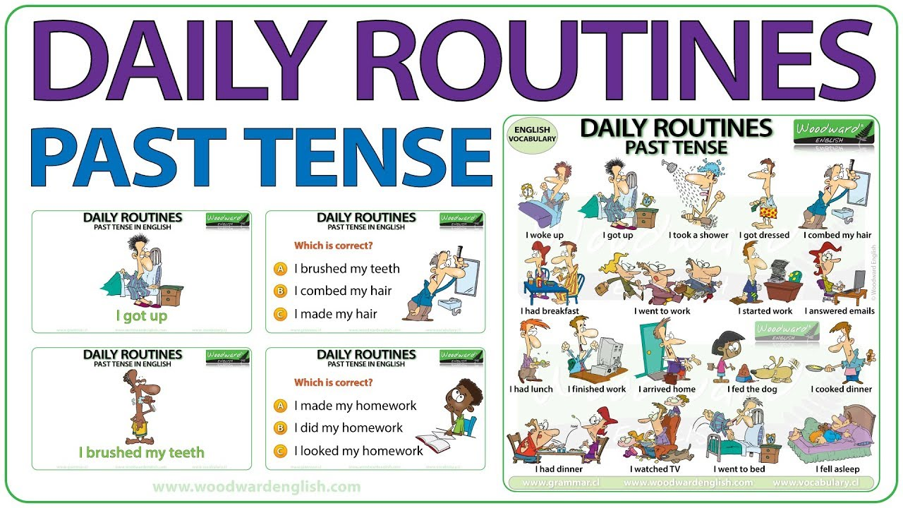 Daily Routines In English Vocabulary Youtube