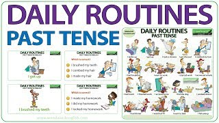Download Video Daily Routines - Past Tense in English MP3 3GP MP4