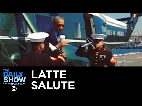 Worst Scandals in Presidential History: Obama's Latte Salute | The Daily Show thumbnail