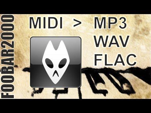 How to convert midi using foobar2000 (+eng subs)