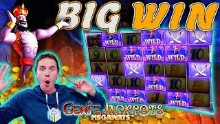 BIG WIN on Genie Jackpots Megaways Slot - £10 Bet!