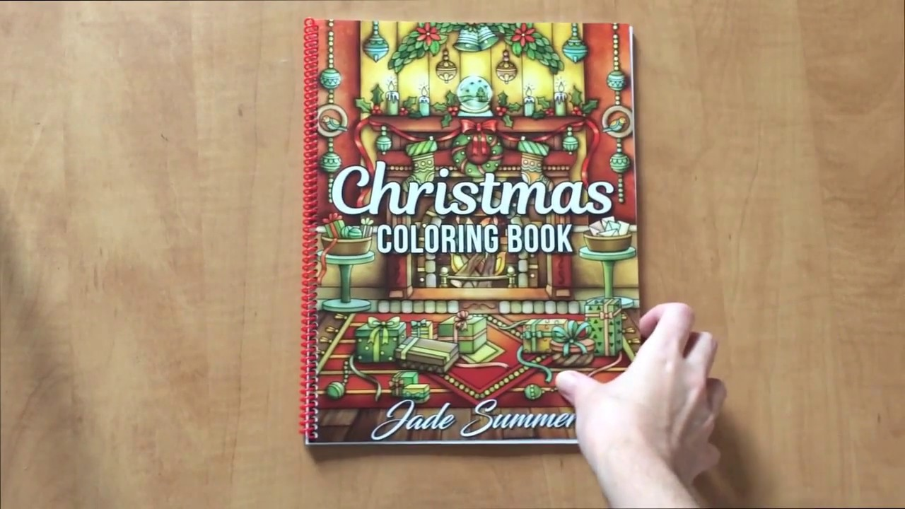 flip through christmas coloring bookjade summer