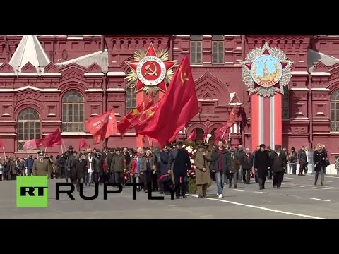 Russia: Communist Party marks Lenin's 145th birthday in Moscow
