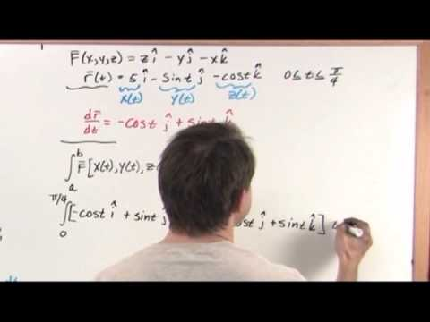 how to find the line integral