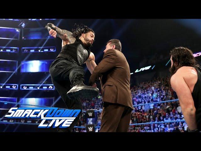 Roman Reigns decks Mr. McMahon with a Superman Punch: SmackDown LIVE, April 16, 2019