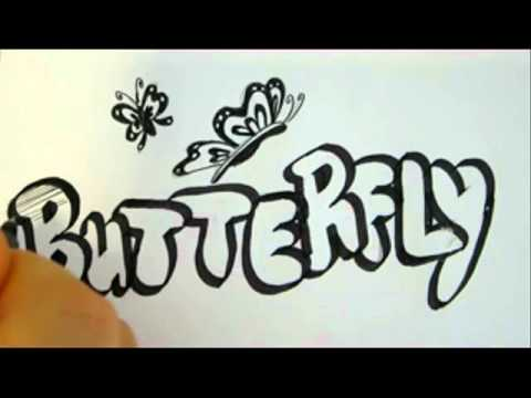 drawings bubble butterfly drawing draw calligraphy letters butterflies true bo fonts sp