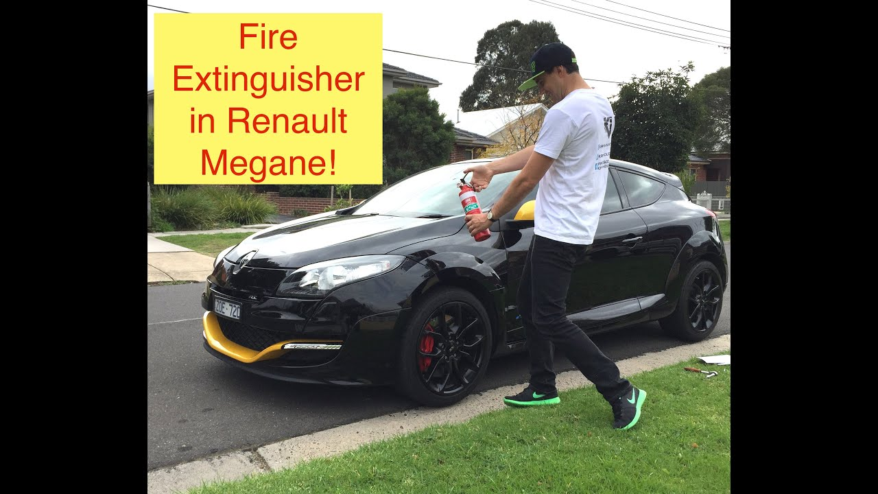 How To Install A Fire Extinguisher Into A Renault Megane