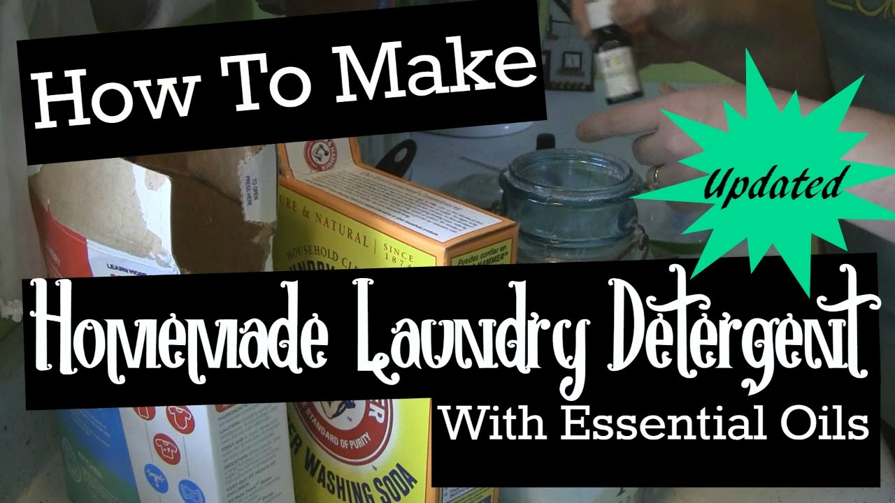Laundry Detergent With Essential Oils