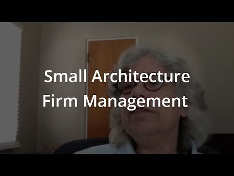 Small architecture firm management youtube for Small architecture firms
