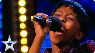 11 year old Diva Asanda Jezile sings Diamonds | Britain's Got Talent