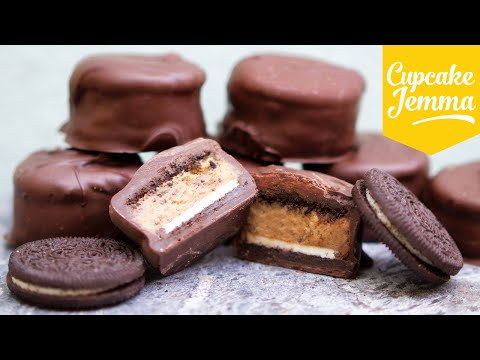 Make Cookie Dough Filled Oreo Cookies | Cupcake Jemma Images
