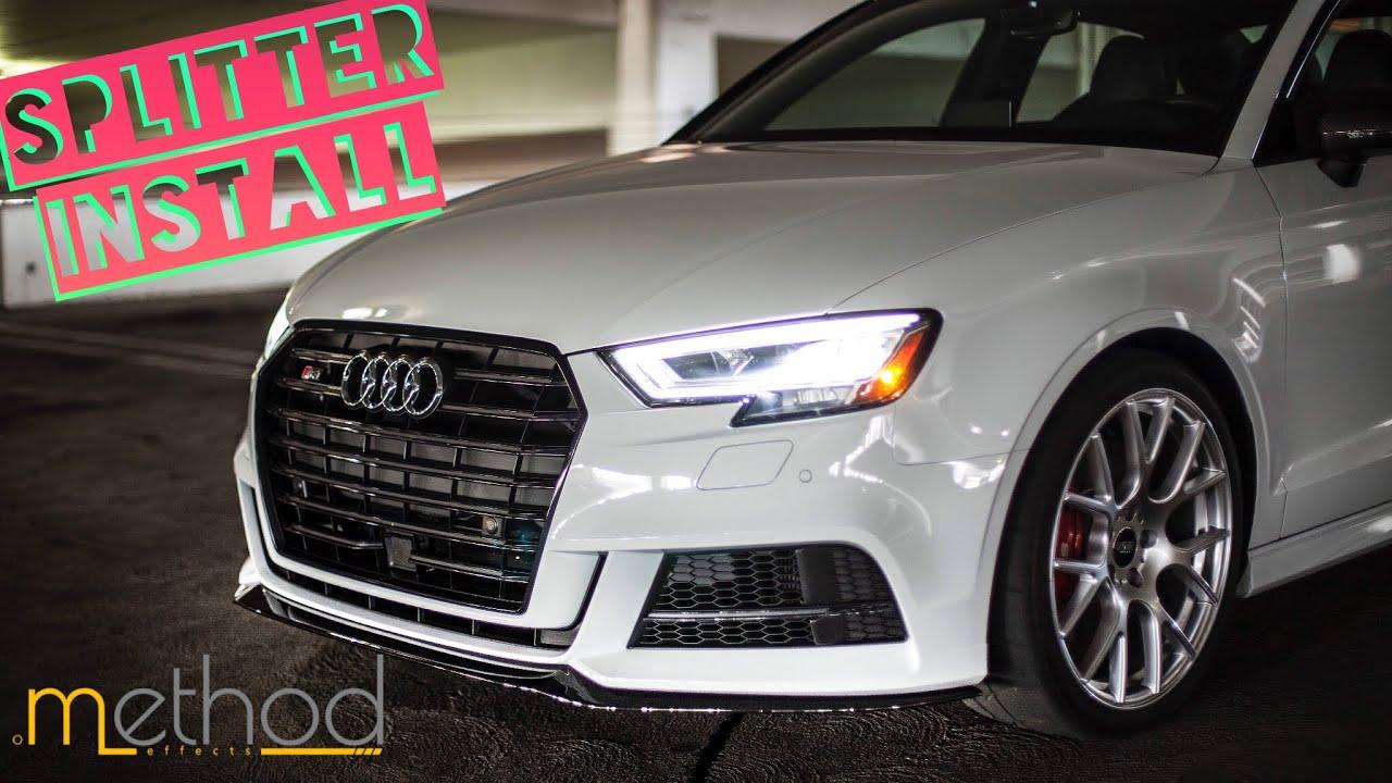 New Front Splitter For The Audi S3