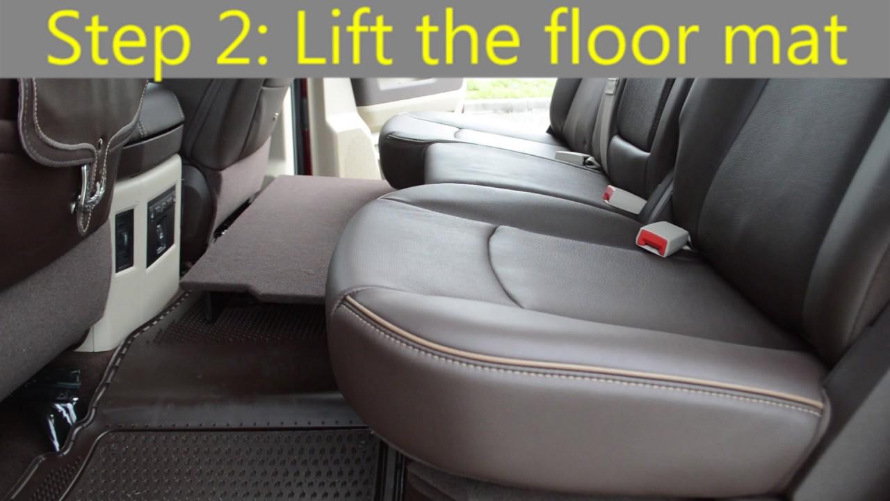 Second Row In Floor Storage Bin