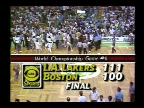 Final 2 Minutes of the 1985 NBA Finals Game 6 Lakers at Celtics.