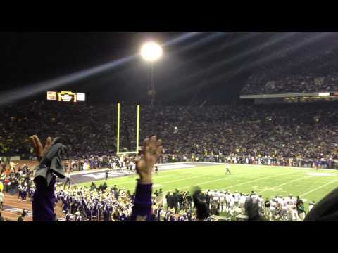 Touchdown scored by Washington at old Husky Stadium (vs. Oregon Ducks)