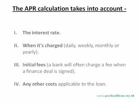What is APR and How to Calculate APR? - Canada payday loans bunny - YouTube
