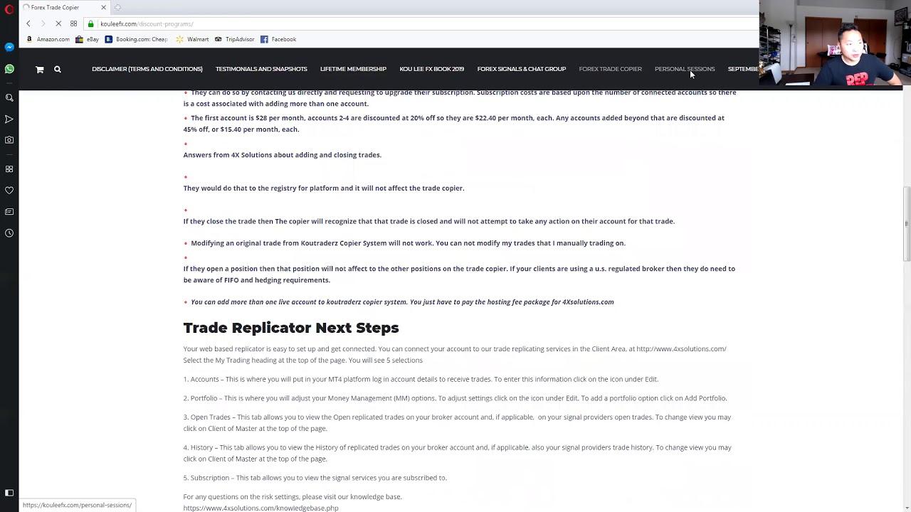 how to navigate to kou lee fx website - YouTube