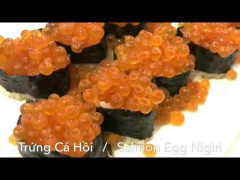 Salmon Eggs Nigiri (Ikura)