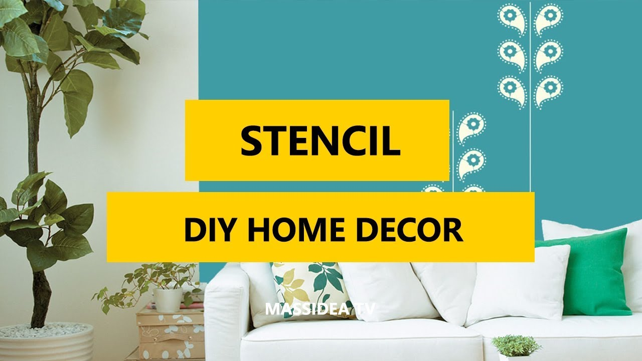 50+ Stunning DIY Home Decor Stencil Projects 2018
