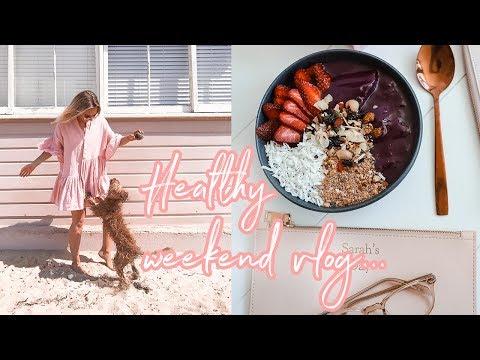 Weekend Vlog | Full Body Workout + Healthy Thai Dinner Recipe