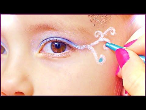 ❀ Макияж глаз с узором ❀| MAKEUP TUTORIAL FOR KIDS ❀ Mom and daughter💗 MILASHKA