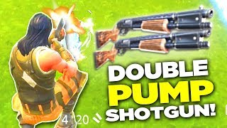 DOUBLE PUMP SHOTGUN in Fortnite is BROKEN! (Fortnite Battle Royale)
