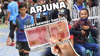 Saweran Wong kayaa 😎 1spike bledoss = 100k. ARJUNA MAHENDRA dpt banyak. SET 1 KOKO PUTRA VS PASONEX