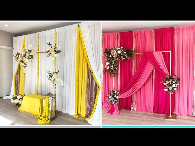 DIY-Haldi/mayun/Sangeet/Mehndi backdrop  DIY -Traditional backdrop , Desi Wedding decor
