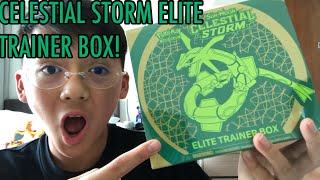 POKEMON CARDS  CELESTIAL STORM ELITE TRAINER BOX OPENING!!!