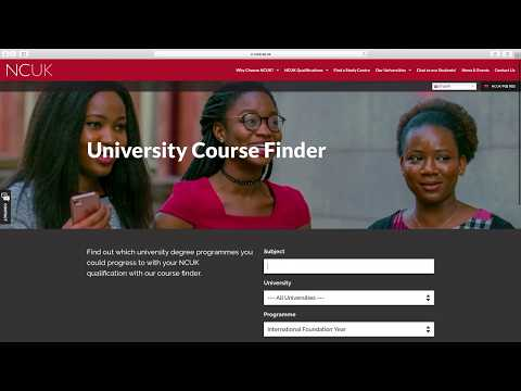 How To Use The NCUK University Course Finder