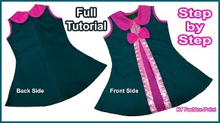 DIY New-Found Designer Girls Baby Frock Cutting and Stitching Full Tutorial for Easy Way